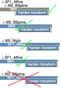 example of nested transforms for an affine followed by a BSpline. Note that the order matters
