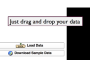 To add data, just drag and drop